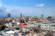 looking west towards the sea, at the Tel Aviv Sky line as seen from the Shalom tower