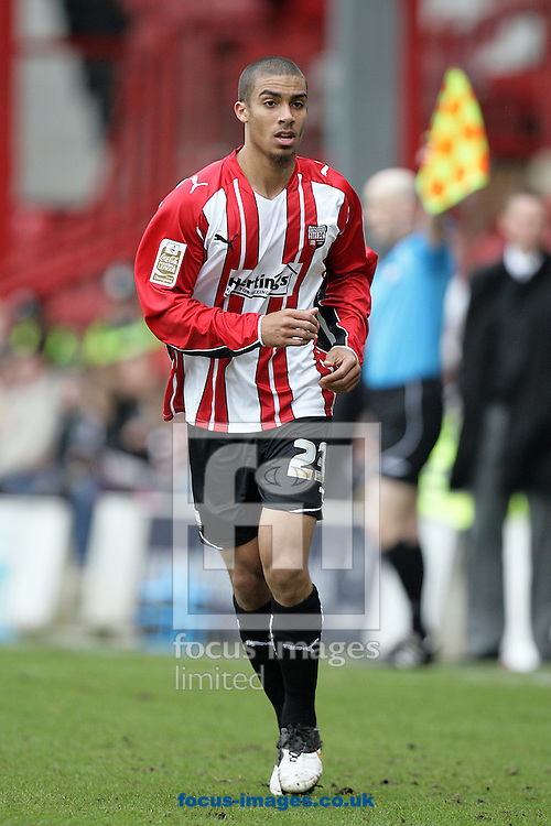 London - Saturday, March 27th, 2010: Brentford goalscorer Lewis Grabban during the Coca Cola League One match at Griffin Park, London. (Pic by Mark Chapman/Focus Images)