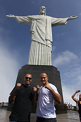 August 25, 2011; Rio De Janiero, Brazil; Visit to Christ the Redeemer statue with Royce Gracie and Junior Dos Santos in Rio De Janiero, Brazil.