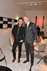 Jean-Bernard Fernandez-Versini and Jean David Malat at the 2017 PAD Collector's Preview, Berkeley Square, London, England. 02 October 2017.