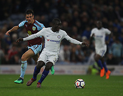 Jack Cork of Burnley (L) and Ngolo Kante of Chelsea in action - Mandatory by-line: Jack Phillips/JMP - 19/04/2018 - FOOTBALL - Turf Moor - Burnley, England - Burnley v Chelsea - English Premier League