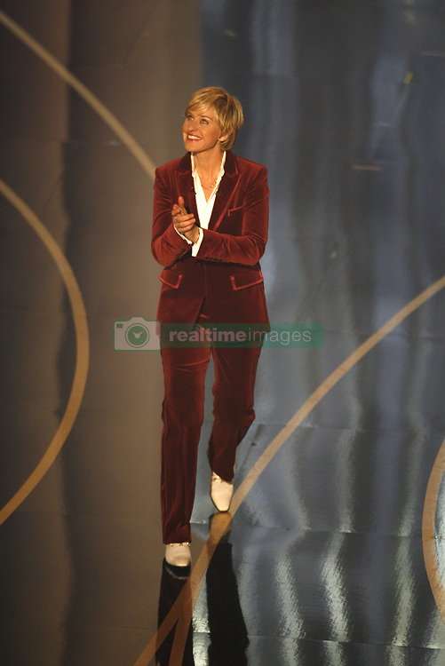 Ellen DeGeneres takes the stage as host of the 79th Academy Awards at the Kodak Theater in Los Angeles, California, Sunday, February 25, 2007. (Photo by Michael Goulding/Orange County Register/MCT/Sipa USA)