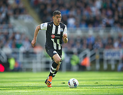 NEWCASTLE-UPON-TYNE, ENGLAND - Sunday, April 1, 2012: Newcastle United's Hatem Ben Arfa in action against Liverpool during the Premiership match at St James' Park. (Pic by David Rawcliffe/Propaganda)