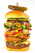Burger with everything on it