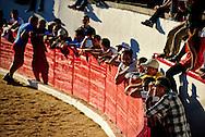 Crowd watching the bullfights