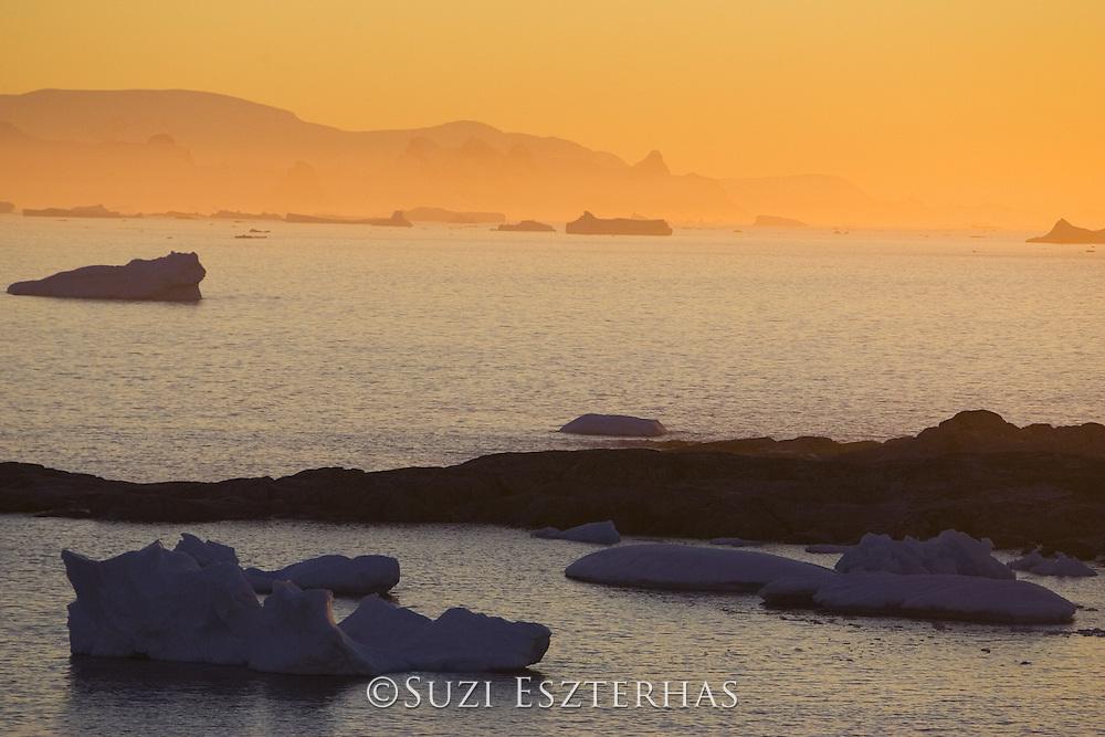 Sunset at Petermann Island<br /> Antarctica