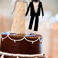 Cake topper detail from Aric and Amanda's Chicago wedding at Germania Place.
