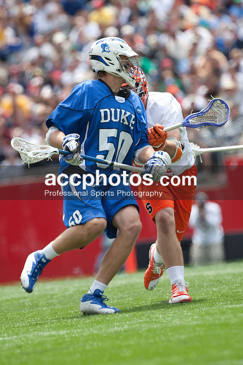 23 May 2009: Duke Blue Devils attackman Will McKee (50) during a 7-17 loss to the Syracuse Orange in the NCAA Lacrosse Semifinals at Gillette Stadium in Foxborough, MA.