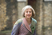 © Licensed to London News Pictures. 28/01/2015. London, UK Home Secretary Theresa May arrives to speak at The International Police and Crime Conference at the King's Fund in London today 28/01/15. Photo credit : Stephen Simpson/LNP