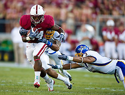 September 19, 2009; Stanford, CA, USA;  Stanford Cardinal running back Jeremy Stewart (34) carries the ball in the first quarter of the San Jose State Spartans game at Stanford Stadium.
