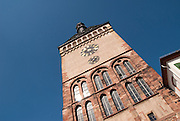 The clock tower of Speyer, construction from the middle age