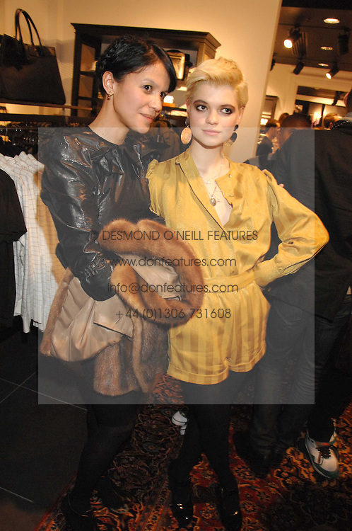 Left to right, LISA MOORISH and PIXIE GELDOF at a party to celebrate the opening of the new H&M store at 234 Regent Street, London on 13th February 2008.<br /><br />NON EXCLUSIVE - WORLD RIGHTS