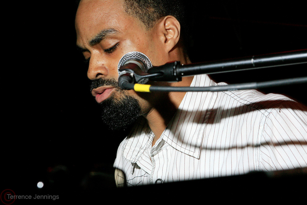 Bilal at the Eclectic Ride Offiicial Re-launch with performances by Emily King and Bilal at Drom on May 6, 2008..Known as the premier pillar of the eclectic soul scene, The Eclectic Ride promises to supersede its legacy starting not only with this week?s headliners but within its first month featuring Dj Cassidy, Ryan Leslie, Estelle, O?Neill McKnight and many other mega-watt performers every Tuesday  throughout summer evenings and months to come.. .The ER will also integrate web 2.0 inter-activity into its mix and bring the experience to computers worldwide with live tapings of every show that can be accessed by fans via The Eclectic Ride site and iTunes to enjoy their favorite Ride performers.