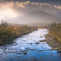Some wonderful light was spilling over Beinn Bhreac-liath as I crossed the bridge over the River Orchy on my way to Loch Tulla, just had to stop.