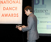 Critics' Circle<br /> National Dance Awards 2012 <br /> 18th January 2013 <br /> at the London Coliseum <br /> <br /> <br /> <br /> presentation of awards to <br /> <br /> Zdenek Konvalina who wins the <br /> OUTSTANDING MALE PERFORMANCE (CLASSICAL)<br /> presented by Charles Phu<br /> (ENGLISH NATIONAL BALLET) <br /> <br /> and <br /> <br /> Ksenia Ovsyanick<br /> Outstanding Female Performance (Classical) <br /> presented by Lee McLernon <br /> (ENGLISH NATIONAL BALLET)<br /> <br /> & with the chairman of the Dance Section, Graham Watts OBE<br /> <br /> <br /> then....at The PLace on 28th January 2013 <br /> The actual awards ceremony and drinks reception <br /> <br /> Hosted by Gary Avis and Kenneth Tharp <br /> <br /> Dancing Times award for best male dance – Akram Khan<br /> <br /> Grishko award for best female dancer – Marianela Nunez<br /> <br /> Stef Stefanou award for outstanding company – Royal Ballet Flanders<br /> <br /> Best classical choreography – Arthur Pita for the Metamorphosis<br /> <br /> Outstanding female performance (classical) – Ksenia Ovsyanick<br /> <br /> Outstanding male performance (classical) – Zdenek Konvalina<br /> <br /> Dancers Pro award for outstanding modern performance (female) – Teneisha Bonner<br /> <br /> Dancers Pro award for outstanding modern performance (male) – Tommy Franzen<br /> <br /> Grishko award for best independent company – Ballet Black<br /> <br /> De Valois award for outstanding achievement – Robert Cohan<br /> <br /> Dance UK industry award – Jeanette Siddall (founder of Big Dance and founding director of Dance UK )<br /> <br /> Photograph by Elliott Franks