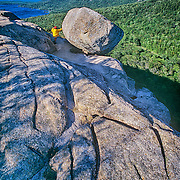 Boulder on the hill. The Bubbles. Acadia Natinal Park. Maine