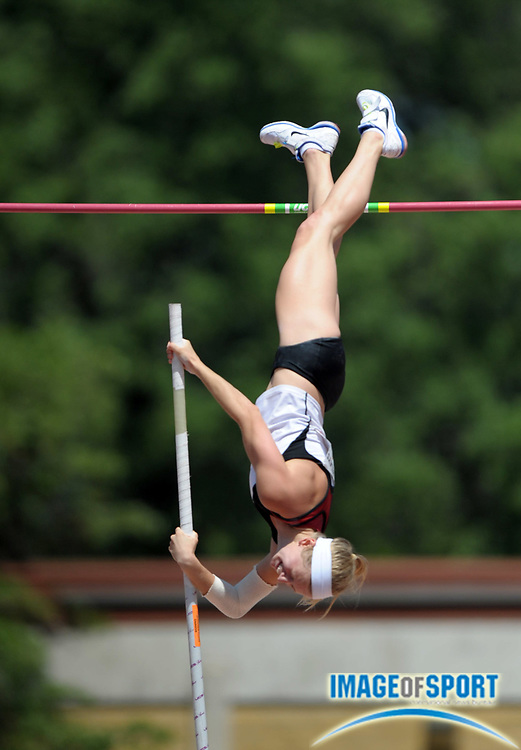 Mar 31, 2012; Austin, TX, USA; Tina Sutej of Arkansas wins the womens pole vault with a clearance of 14-11 (4.55m) in the 85th Clyde Littlefield Texas Relays at Mike A. Myers Stadium.