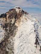 Aerial view of the Iliamna Volcano. Lake Clark National Park, Alaska.