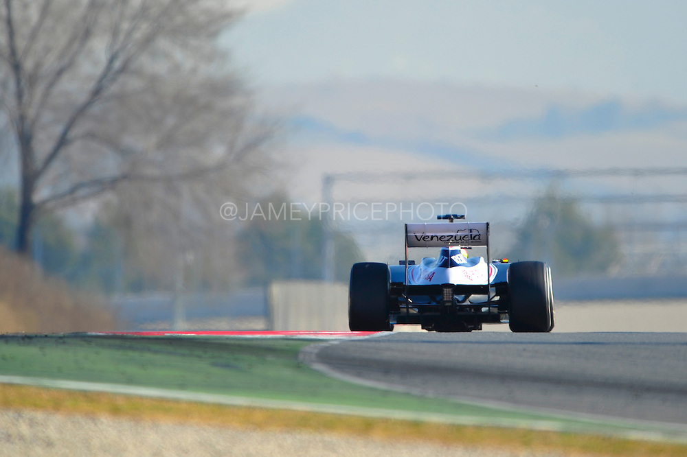 Pastor Maldonado (VEN) drives the Williams F1 Team FW34 Formula One Testing, Circuit de Catalunya, Barcelona, Spain, World Copyright: Jamey Price