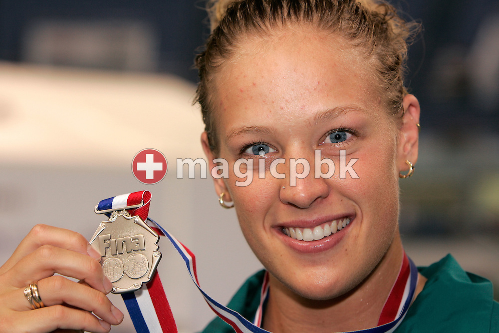 Tayliah ZIMMER of Australia wins the silver medal in the women's 200m Backstroke final during day three of the 8th FINA World Swimming Championships (25m) held at Qi Zhong Stadium April 7th, 2006 in Shanghai, China. (Photo by Patrick B. Kraemer / MAGICPBK)