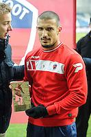 Idriss SAADI - 24.01.2015 - Clermont / Chateauroux  - 21eme journee de Ligue2<br />Photo : Jean Paul Thomas / Icon Sport