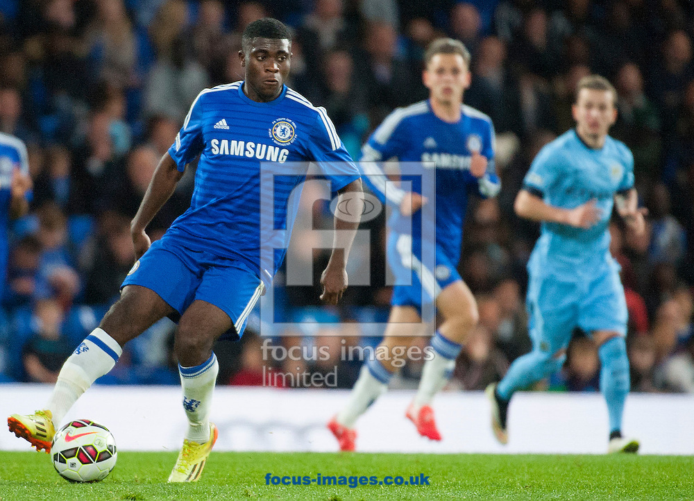Jermaine Boga of Chelsea on the ball during the second leg of the FA Youth Cup Final at Stamford Bridge, London<br /> Picture by Jack Megaw/Focus Images Ltd +44 7481 764811<br /> 27/04/2015