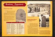 Interpretive sign at the Grafton Cemetery, Grafton ghost town, Utah USA