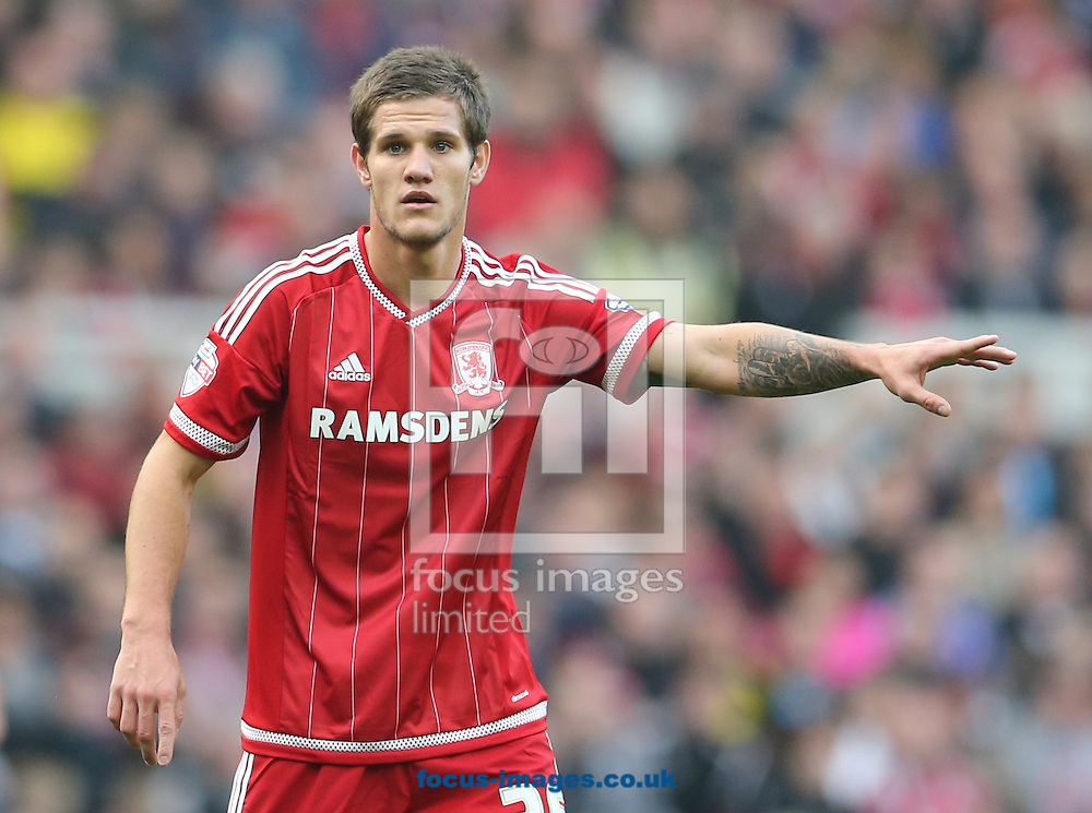 Bruno Zuculini of Middlesbrough during the Sky Bet Championship match at the Riverside Stadium, Middlesbrough<br /> Picture by Simon Moore/Focus Images Ltd 07807 671782<br /> 31/10/2015