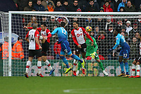 Football - 2017 / 2018 Premier League - Southampton vs. Arsenal<br /> <br /> Olivier Giroud of Arsenal heads the equaliser at St Mary's Stadium Southampton<br /> <br /> COLORSPORT/SHAUN BOGGUST