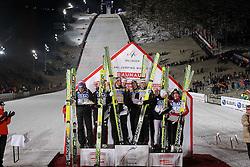 29.01.2011, Mühlenkopfschanze, Willingen, GER, FIS Skijumping Worldcup, Team Tour, Willingen, im Bild Podium, Deutschland, Österreich und Polen// during FIS Skijumping Worldcup, Team Tour, willingen, EXPA Pictures © 2011, PhotoCredit: EXPA/ Newspix/ JERZY KLESZCZ +++++ATTENTION+++++ - FOR AUSTRIA (AUT), SLOVENIA (SLO), SERBIA (SRB) an CROATIA (CRO), SWISS SUI and SWEDEN SWE CLIENT ONLY