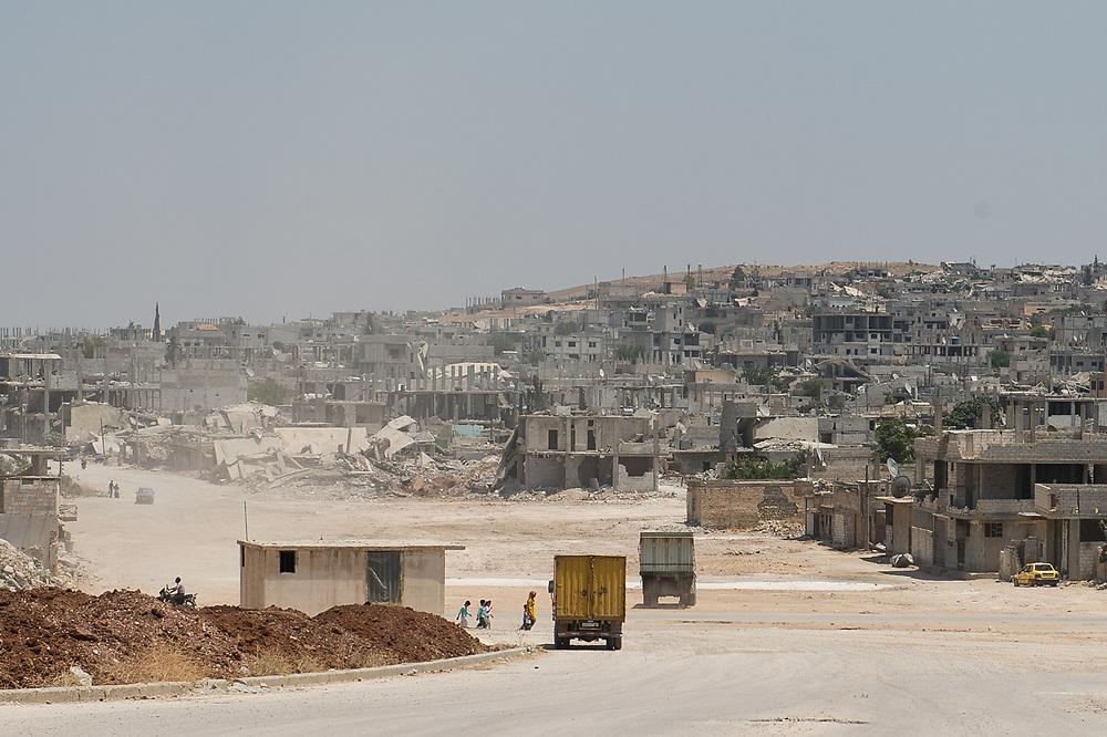 Parts of the ruined city of Kobane. Kobanê (Ayn al-Arab), Syria, June 22, 2015