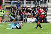 Tim Krul (1) of Norwich City makes a save during the Premier League match between Bournemouth and Norwich City at the Vitality Stadium, Bournemouth, England on 19 October 2019.