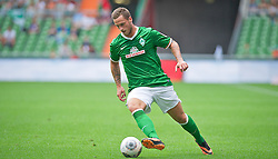 "28.07.2013, Weserstadion, Bremen, GER, 1.FBL, ""Tag der Fans 2013"" des SV Werder Bremen, Testspiel SV Werder Bremen vs Fulham FC, im Bild Marko Arnautovic (SV Werder Bremen #7) am Ball // during the ""Tag der Fans 2013"" of the German Bundesliga Club SV Werder Bremen at the Weserstadion, Bremen, Germany on 2013/07/28. EXPA Pictures © 2013, PhotoCredit EXPA Andreas Gumz ***** ATTENTION - OUT OF GER *****"