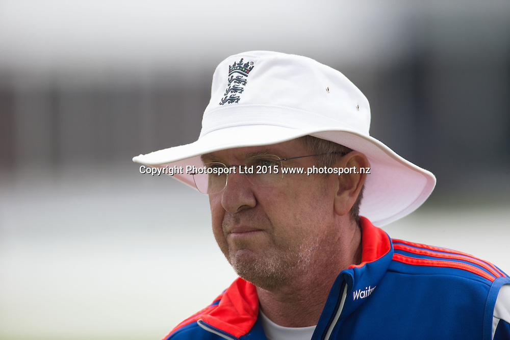England Head Coach, Trevor Bayliss, during net practice on the eve of the 2nd Investec Test Match against Australia at Lord's Cricket Ground, London. Photo: Graham Morris (Tel: +44(0)20 8969 4192 Email: sales@cricketpix.com) 14/07/15