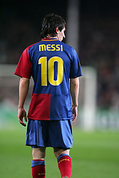 Lionel Messi of Barcelona during the UEFA Champions League quarter final first leg match between FC Barcelona and FC Bayern Munich at the Camp Nou stadium on April 8, 2009 in Barcelona, Spain.