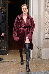Hailey Baldwin attending the Elie Saab show during Paris Fashion Week Ready to wear FallWinter 2017-18 on March 04, 2017  in Paris, France. Photo by Aurore Marechal/ABACAPRESS.COM  | 584654_089 Paris France