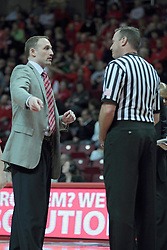 11 January 2014:  Head Coach Dan Muller during an NCAA  mens basketball game between the Ramblers of Loyola University and the Illinois State Redbirds  in Redbird Arena, Normal IL.  Redbirds win 59-50