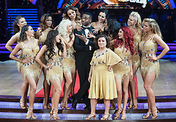 Gemma Atkinson, Alexandra Burke, Susan Calman, Debbie McGee, Nadiya Bychkova, Katya Jones, Ore Oduba and Oti Mabuse posing during photocall before the opening night of Strictly Come Dancing Tour 2018 at Arena Birmingham in Birmingham, UK. Picture date: Thursday 18 January, 2018. Photo credit: Katja Ogrin/ EMPICS Entertainment.