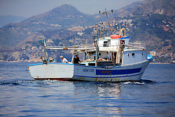 ITALY GIARDINI NAXOS 7MAY08 - Sicilian fishing boat near the port of Giardini Naxos in Sicily in the Mediterranean Sea...jre/Photo by Jiri Rezac..© Jiri Rezac 2008..Contact: +44 (0) 7050 110 417.Mobile:  +44 (0) 7801 337 683.Office:  +44 (0) 20 8968 9635..Email:   jiri@jirirezac.com.Web:    www.jirirezac.com..© All images Jiri Rezac 2008 - All rights reserved.