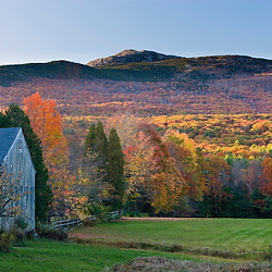 Mount Monadnock in fall as seen from a farm in Jaffrey, New Hampshire.