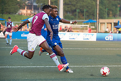 May 28, 2017 - Hong Kong, Hong Kong SAR, China - Keinan Davis (L) of Aston Villa tries to get the ball from Darnell Johnson of Leicester City (R).Leicester City win their second HKFC Citi Soccer Sevens title following a 3-0 victory over defending champions Aston Villa in the final.2017 Hong Kong Soccer Sevens at the Hong Kong Football Club Causeway Bay. (Credit Image: © Jayne Russell via ZUMA Wire)