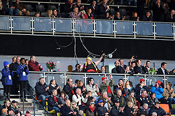 "The ""Fat Lady Sings"" towards the end of the second half of the match - Photo mandatory by-line: Rogan Thomson/JMP - Tel: Mobile: 07966 386802 16/02/2013 - SPORT - RUGBY - Allianz Park - Barnet. Saracens v Exeter Chiefs - Aviva Premiership. This is the first Premiership match at Saracens new home ground, Allianz Park, and the first time Premiership Rugby has been played on an artificial turf pitch."
