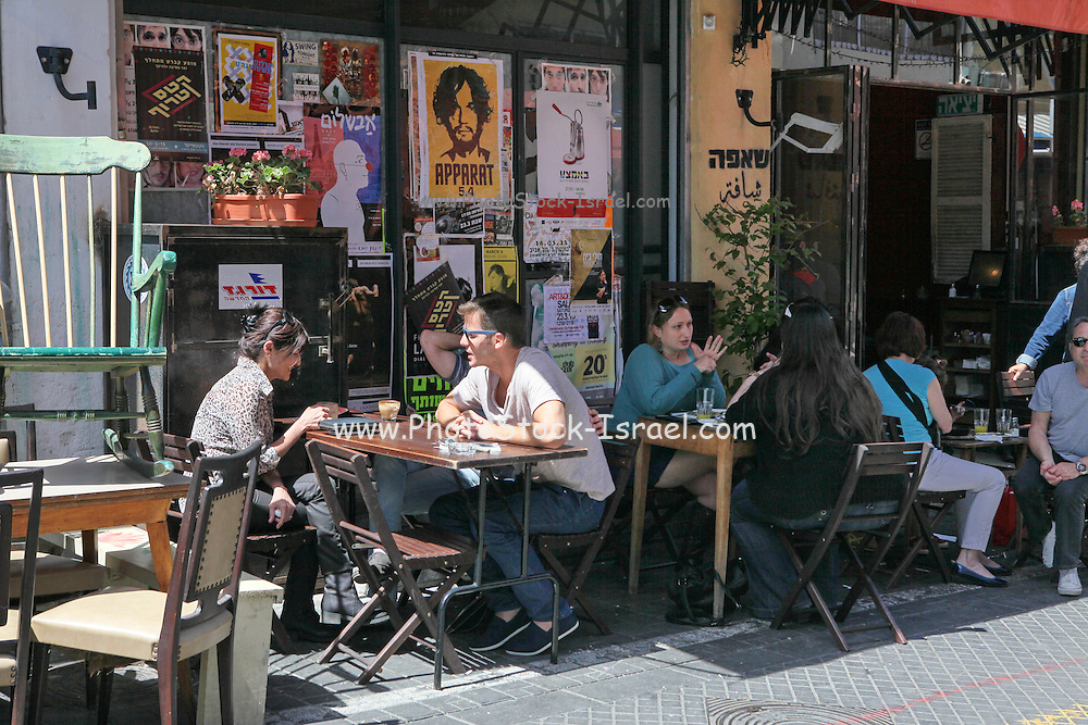 Outdoor Cafe at the Flea Market, Jaffa, Israel