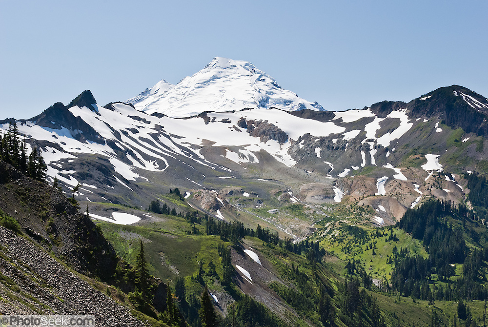 Mount Baker (10,781 feet), Mount Baker Wilderness, North Cascades mountains, Washington