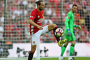 Daley Blind Midfielder of Manchester United during the FA Community Shield match between Leicester City and Manchester United at Wembley Stadium, London, England on 7 August 2016. Photo by Phil Duncan.