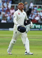 July 7, 2017 - London, United Kingdom - England's Jonny Bairstow .during 1st Investec Test Match between England and South Africa at Lord's Cricket Ground in London on July 07, 2017  (Credit Image: © Kieran Galvin/NurPhoto via ZUMA Press)