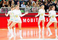 Dragon Ladies perform during basketball match between KK Union Olimpija and Real Madrid (ESP) in 5th Round of Regular season of Euroleague 2012/13 on November 9, 2012 in Arena Stozice, Ljubljana, Slovenia. (Photo By Vid Ponikvar / Sportida)