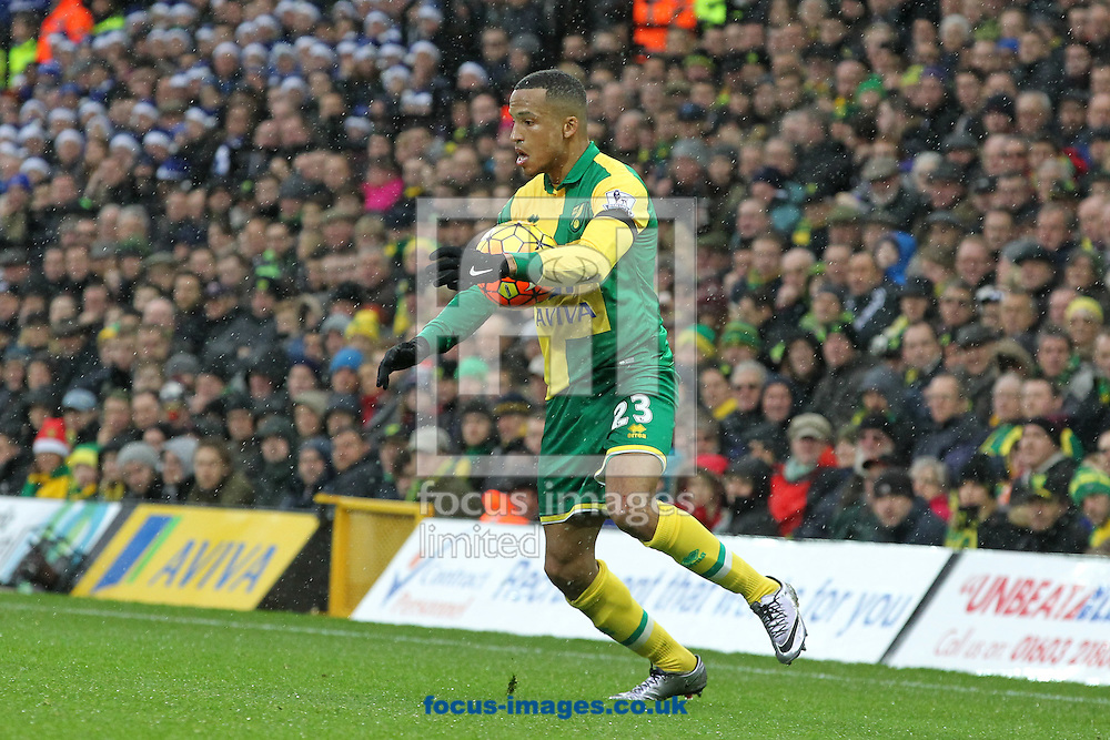 Martin Olsson of Norwich in action during the Barclays Premier League match at Carrow Road, Norwich<br /> Picture by Paul Chesterton/Focus Images Ltd +44 7904 640267<br /> 12/12/2015