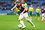 Burnley forward Chris Wood (9) during the The FA Cup match between Burnley and Norwich City at Turf Moor, Burnley, England on 25 January 2020.
