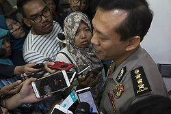 May 25, 2017 - South Jakarta, jakarta, Indonesia - Jakarta, Indonesia, 25 May 2017 : Police held press conference at Indonesian Police Public Relation Office – Trunjoyo – South Jakarta. Police gave the hero title to the police officer who died because of the bombing at Kampung Melayu. Also at press conference the police confirm that the bomb related to ISIS action that threatening the world now, the action also having the trigger on silent terrorist to act related to the bombing at Manchester City-England. (Credit Image: © Donal Husni via ZUMA Wire)
